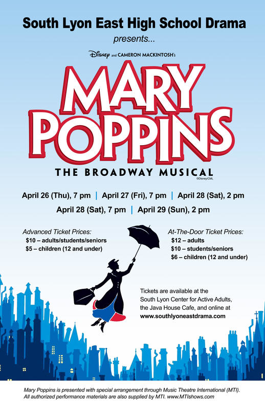 Mary Poppin's Auditions This Week