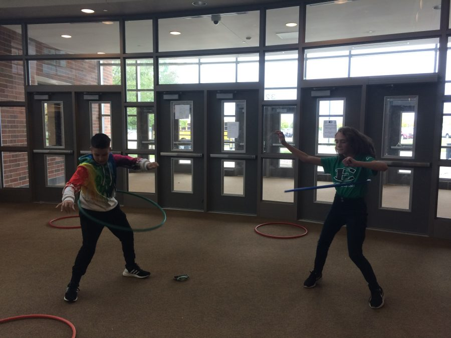 A Lunch's Hula Hoop competition.