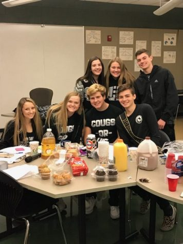 Executive Council before the Homecoming Pep Assembly