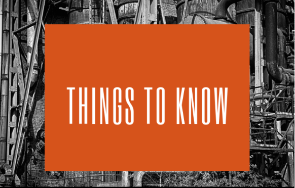 Things to know for the upcoming year!
