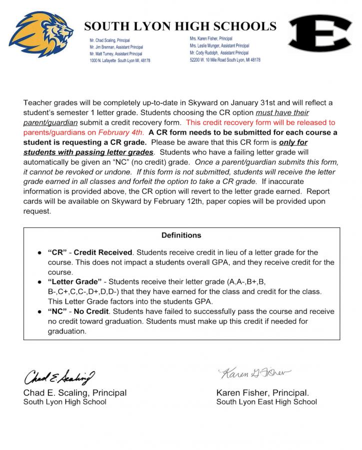 Semester 1 Grading Info